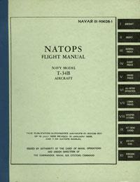 T-34BNATOPS Flight Manual NAVAIR 01-90KDB-1 1 January 1966 $75